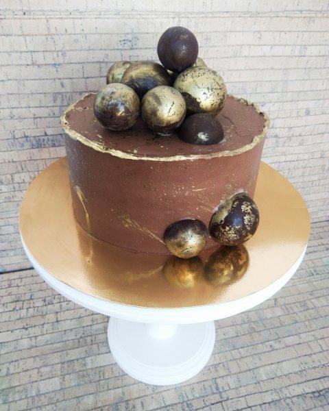 "Торт ""Шоколадные сферы"""